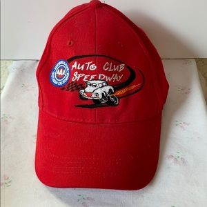 Red Auto Club Speedway Youth Size Baseball Cap